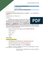 Prato - Recurso Administrativo - Licitação
