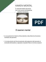 4- Examen Mental