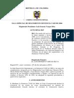 Auto 009 Del 27 de Enero de 2015seguimiento Ordenes 2 y 3 Del Auto 092-08