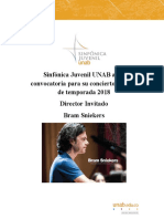 Convocatoria Sinfonica Juvenil Noviembre 2018