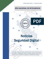 Noticias Seguridad Digital N°072 - 11ABR19. (Destino=SV03)