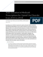 State Variation in Medicaid Prescriptions for Opioid Use Disorder from 2011 to 2018