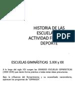 Historia Escuelas Gimnásticas