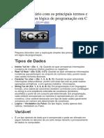 mini Dicionário com os principais termos e comandos em lógica de programação em C.docx