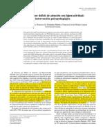 TDAH Intervencion Psicopedagogica 2004 Arco