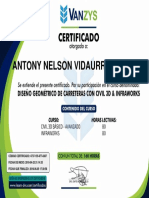 Certificado de Civil 3d
