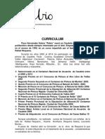 """Curriculum y obras de Paco Hernandez """"RUBIO"""""""