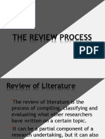 The Review Process (PRACTICAL RESEARCH I)