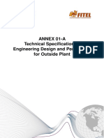 Annex 1-A, Technical Specification of Engineering Design and Permission for Outside Plant