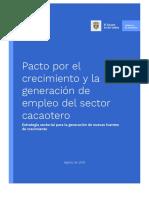 Pacto Por El Crecimiento y Para La Generación de Empleo Del Sector - Cacao