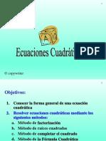 presentacion ecuaciones cuadraticas