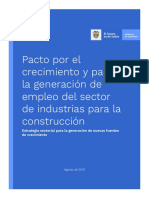 Pacto Por El Crecimiento y Para La Generación de Empleo Del Sector - Construcción
