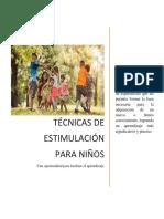 Técnicas de Estimulación Para Niños de Primaria