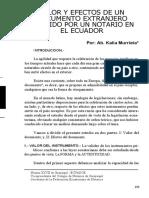 06 Valor Y Efectos de Un Documento Extranjero