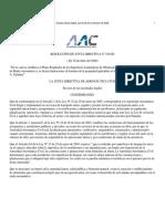 Resolucion No 010-JD - Gaceta No 25666