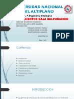 Epitermal de Baja Sulfuracion