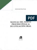 Manual Del Nuevo Proceso Penal & de Litigacion Oral Neyra Flores