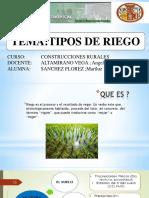 TIPOS DE RIEGO