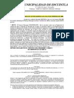 - Reglamento de Construccion, Urbanismo y Ornato de Escuintla, Escuintla