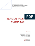 Informe II Método What if y Norma 4004 Listo