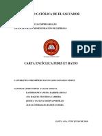 Carta Enciclica Fides Et Ratio