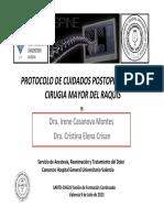 PROTOCOLO POST OPERATORIO