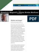 História sem tempo - Jornal O Globo