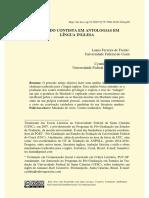 FREITAS, Luana F. de; COSTA, Cynthia B. Machado Contista Em Antologias Em Língua Inglesa