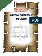 Departamento de Beni - Bolivia