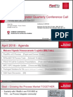 APR 2018 Process Integrator Quarterly Call
