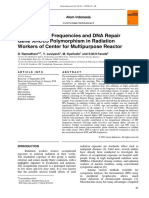 Micronucleus Frequencies and DNA Repair Gene XRCC3 Polymorphism in Radiation Workers of Center for Multipurpose Reactor
