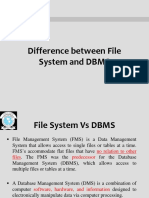 1. Difference Between File System and DBMS