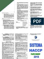 TRIPTICO HACCP