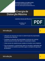 Teoria da Energia de Distorção Máxima