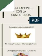 Las Relaciones Con La Competencia