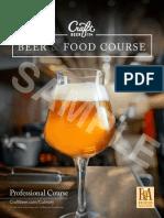curso de acompañamientos para cerveza