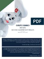 Grupo Bimbo Reports 2Q19 Results