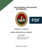 Informe de Adobe Estabilizado Con Cemento y Pelo
