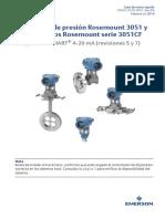 Manuals Guides Transmisor de Presión Rosemount 3051 y Caudalímetros Rosemount Serie 3051cf Es 89250