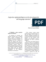 Aspectos Epistemológicos en La Investigación Del Lenguaje Interno
