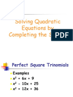Solving Quadratic Equations by Completing the Square.ppt