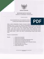 Instruksi Bupati Kapuas Tentang Pelaksanaan Bulan Imunisasi Anak Sekolah 2019