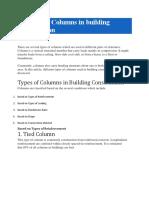 14 types of columns