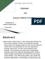 Solar Hybrid System