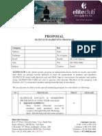 Eliteclub Marketing Proposal (Hotel)