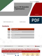 LTE Downlink Throughput Optimization Based on Performance Data