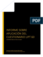 Gustavo Jacome Informe LIPT60