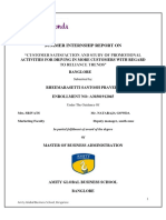 Project report on Reliance Trends