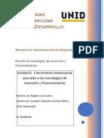 Unidad 6 Crecimiento Empresarial Asociado a Las Estrategias de Inversión y Financiamiento. OAGF