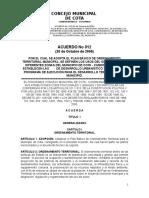 Acuerdo 12 - 2000 Pot